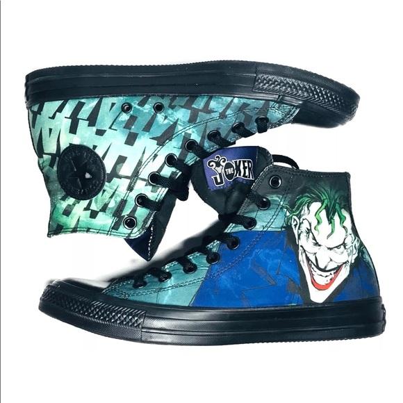 4e7ea622660ff6 The JOKER Converse ALL-Star Shoes Men's 8 Unisex